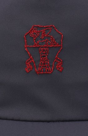Мужской бейсболка BRUNELLO CUCINELLI темно-синего цвета, арт. MM45A9975 | Фото 3