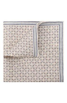 Мужской платок изо льна и хлопка BRUNELLO CUCINELLI кремвого цвета, арт. MQ8900091 | Фото 1