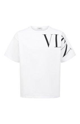 Мужская хлопковая футболка VALENTINO белого цвета, арт. VV3MG03S742 | Фото 1