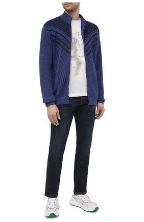 Мужская хлопковая футболка ZILLI белого цвета, арт. MBU-NT300-PIED1/MC01 | Фото 2 (Материал внешний: Хлопок; Стили: Кэжуэл; Длина (для топов): Стандартные; Рукава: Короткие)