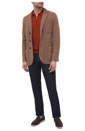 Мужское поло из кашемира и шелка ZILLI коричневого цвета, арт. MBU-PZ012-NECL1/ML01 | Фото 2