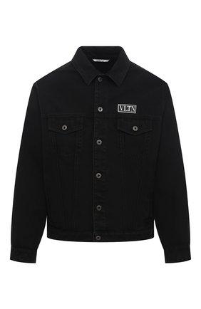 Мужская джинсовая куртка VALENTINO черного цвета, арт. VV3DC03J727   Фото 1