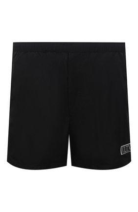 Мужские плавки-шорты VALENTINO черного цвета, арт. VV3UH0286FN | Фото 1