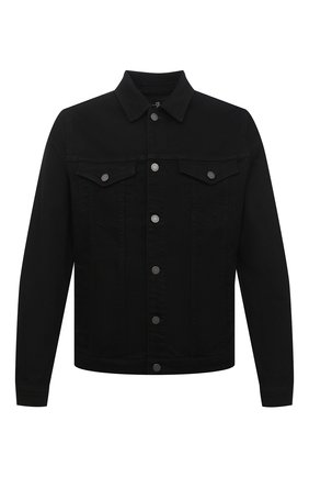 Мужская джинсовая куртка 7 FOR ALL MANKIND черного цвета, арт. JSK5R730BL | Фото 1