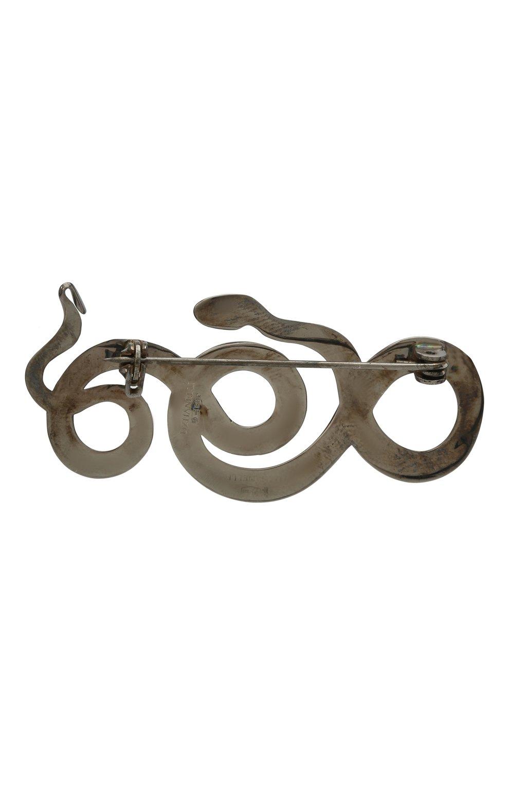 Женская брошь serpentes DZHANELLI серебряного цвета, арт. 0362 | Фото 3 (Материал: Серебро)