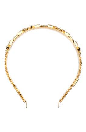 Женский ободок для волос DOLCE & GABBANA золотого цвета, арт. WHM6P2/W1111 | Фото 1