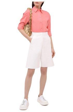 Женская льняная рубашка LORO PIANA розового цвета, арт. FAL5890 | Фото 2