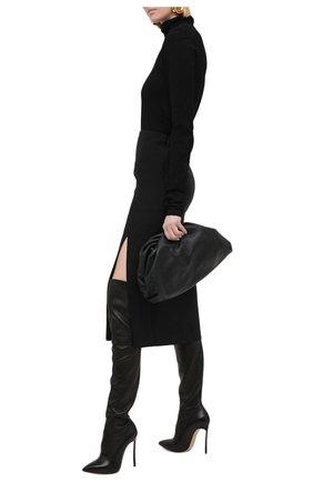 Женские кожаные ботфорты blade CASADEI черного цвета, арт. 1T000D125HHNAGU9000 | Фото 2