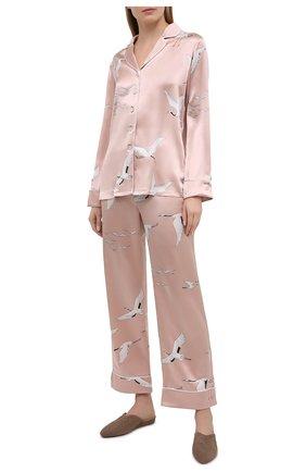 Женская шелковая пижама OLIVIA VON HALLE розового цвета, арт. PS2105   Фото 1