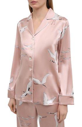 Женская шелковая пижама OLIVIA VON HALLE розового цвета, арт. PS2105   Фото 2