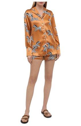 Женская шелковая пижама OLIVIA VON HALLE оранжевого цвета, арт. PS2121 | Фото 1