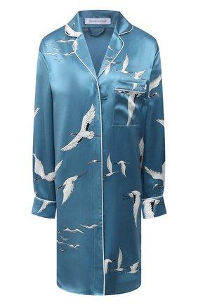 Женская шелковая сорочка OLIVIA VON HALLE голубого цвета, арт. PS2134 | Фото 1