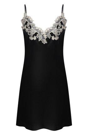 Женская шелковая сорочка LA PERLA черно-белого цвета, арт. 0019227/0202 | Фото 1