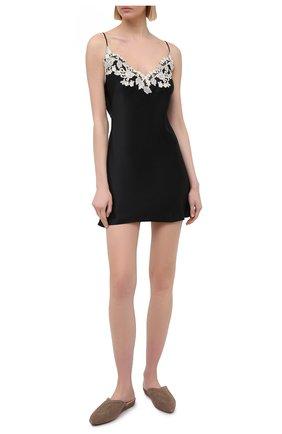 Женская шелковая сорочка LA PERLA черно-белого цвета, арт. 0019227/0202 | Фото 2