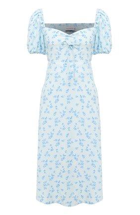 Женское платье из вискозы FAITHFULL THE BRAND голубого цвета, арт. FF1616-RCF | Фото 1