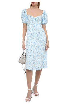 Женское платье из вискозы FAITHFULL THE BRAND голубого цвета, арт. FF1616-RCF | Фото 2