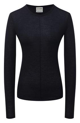 Женский пуловер из кашемира и шелка ST. JOHN темно-синего цвета, арт. K511071   Фото 1