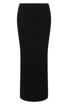 Женская шерстяная юбка ST. JOHN черного цвета, арт. K7110M2   Фото 1