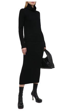 Женская шерстяная юбка ST. JOHN черного цвета, арт. K7110M2   Фото 2