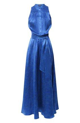 Женское шелковое платье KITON синего цвета, арт. D51326K09T58 | Фото 1