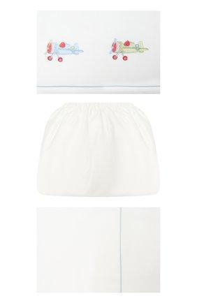 Детского комплект постельного белья A&A BABY GLAM белого цвета, арт. LFL - 0201-20   Фото 1
