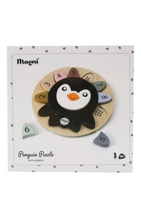 Детского пазл пингвин с номерами MAGNI разноцветного цвета, арт. 3131 | Фото 1