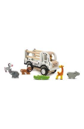 Детского игрушечная машинка с животными MAGNI разноцветного цвета, арт. 2876 | Фото 1 (Материал: Дерево)