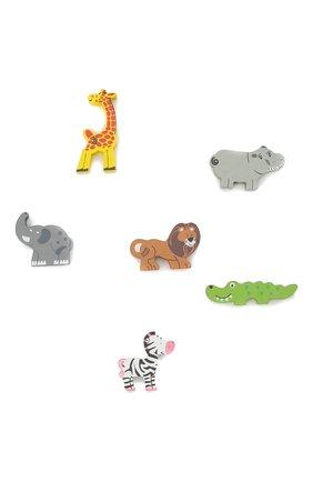 Детского игрушечная машинка с животными MAGNI разноцветного цвета, арт. 2876 | Фото 2 (Материал: Дерево)