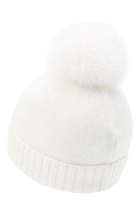 Детского кашемировая шапка GIORGETTI CASHMERE бежевого цвета, арт. MB1693/8A   Фото 2