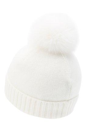 Детского кашемировая шапка GIORGETTI CASHMERE бежевого цвета, арт. MB1693/4A | Фото 2 (Материал: Шерсть, Кашемир)