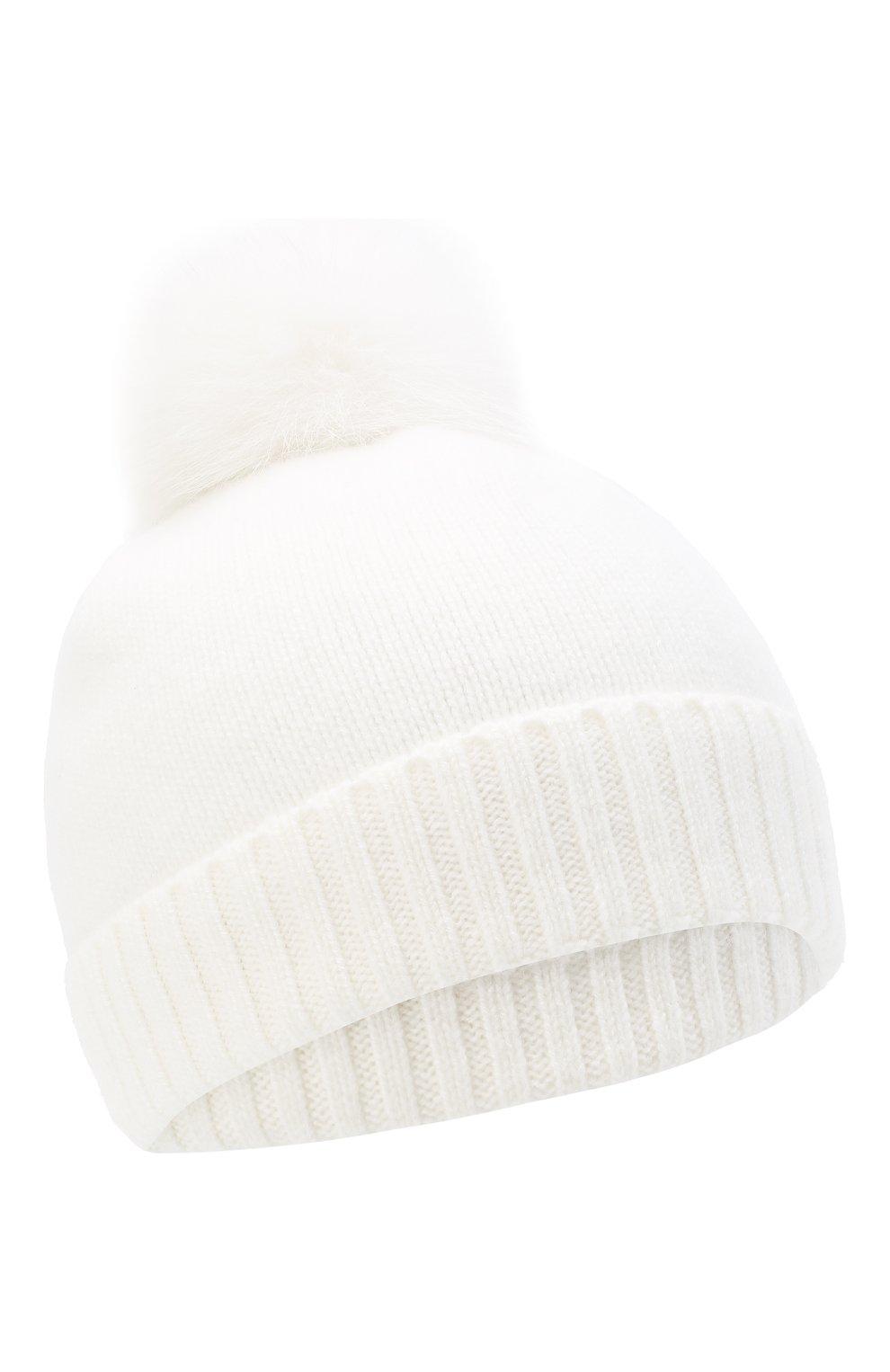 Детского кашемировая шапка GIORGETTI CASHMERE бежевого цвета, арт. MB1693/14A   Фото 1 (Материал: Кашемир, Шерсть)