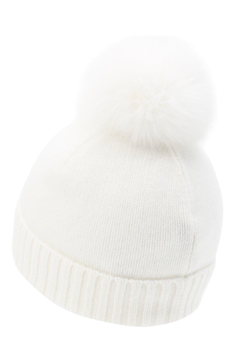 Детского кашемировая шапка GIORGETTI CASHMERE бежевого цвета, арт. MB1693/14A   Фото 2 (Материал: Кашемир, Шерсть)