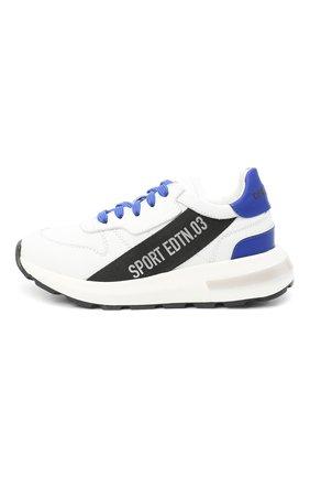 Детские кожаные кроссовки DSQUARED2 белого цвета, арт. 66934/KIPS/GUM/28-35 | Фото 2