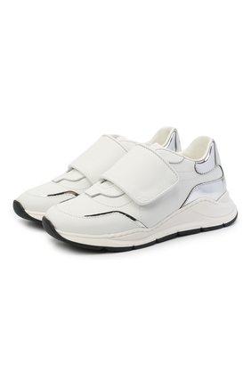 Детские кожаные кроссовки DOLCE & GABBANA белого цвета, арт. DA0911/AK186/29-36   Фото 1