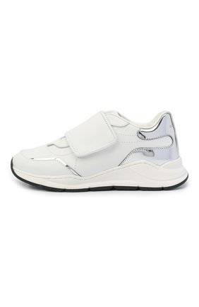 Детские кожаные кроссовки DOLCE & GABBANA белого цвета, арт. DA0911/AK186/29-36   Фото 2