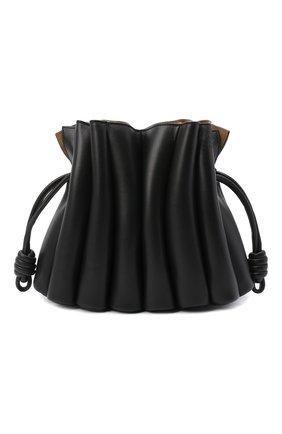 Женская сумка flamenco LOEWE черного цвета, арт. A411FC4X01 | Фото 1