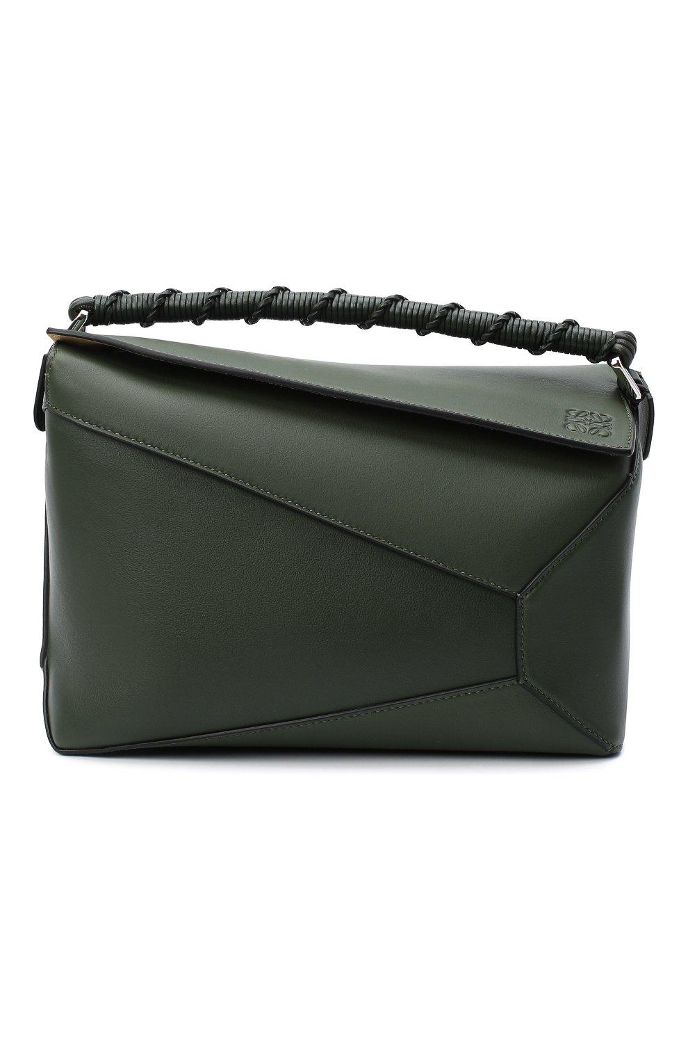 Женская сумка puzzle LOEWE хаки цвета, арт. A510P49X01 | Фото 1
