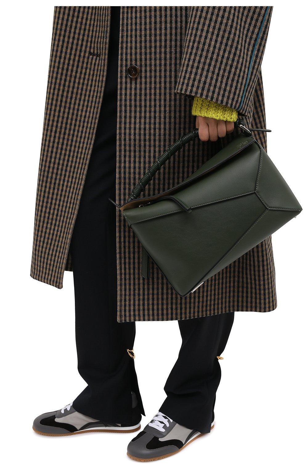 Женская сумка puzzle LOEWE хаки цвета, арт. A510P49X01 | Фото 2