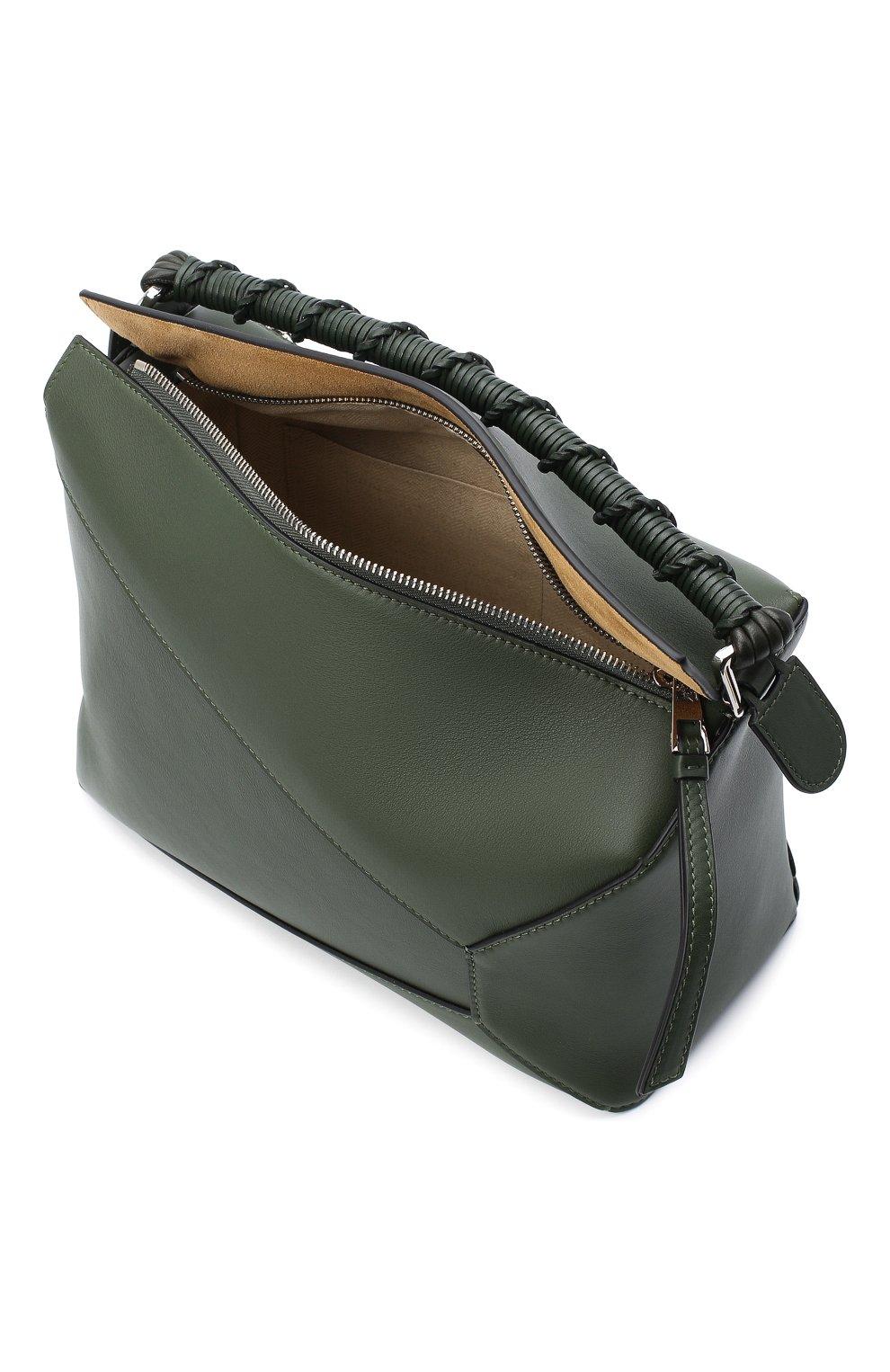 Женская сумка puzzle LOEWE хаки цвета, арт. A510P49X01 | Фото 4