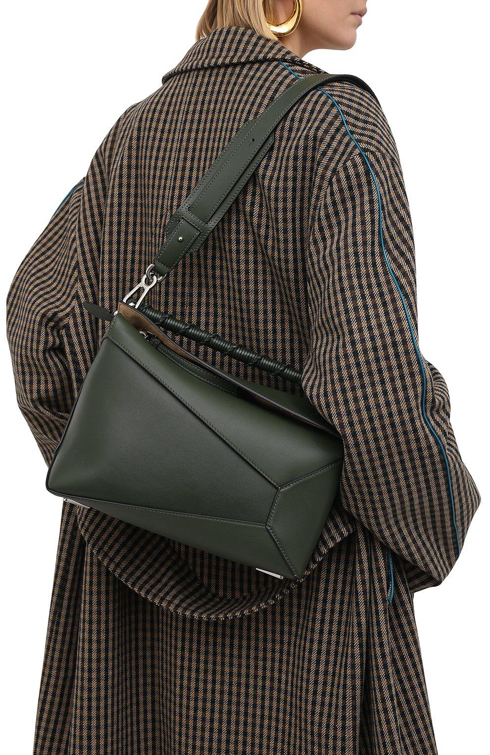 Женская сумка puzzle LOEWE хаки цвета, арт. A510P49X01 | Фото 5