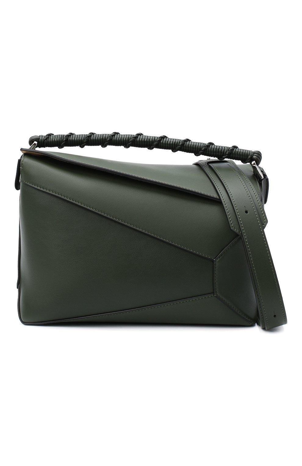 Женская сумка puzzle LOEWE хаки цвета, арт. A510P49X01 | Фото 6