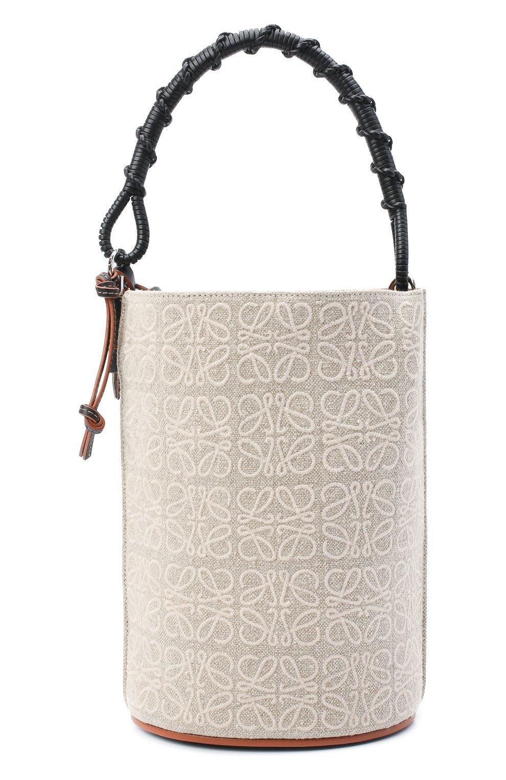 Женская сумка bucket LOEWE бежевого цвета, арт. A650Z85X11   Фото 1