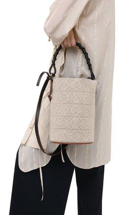 Женская сумка bucket LOEWE бежевого цвета, арт. A650Z85X11   Фото 2