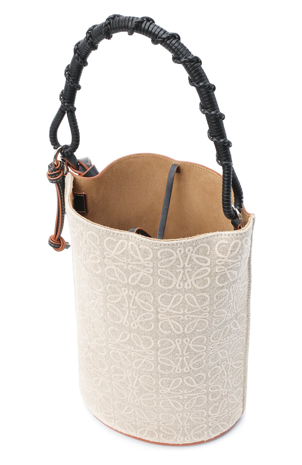Женская сумка bucket LOEWE бежевого цвета, арт. A650Z85X11   Фото 4