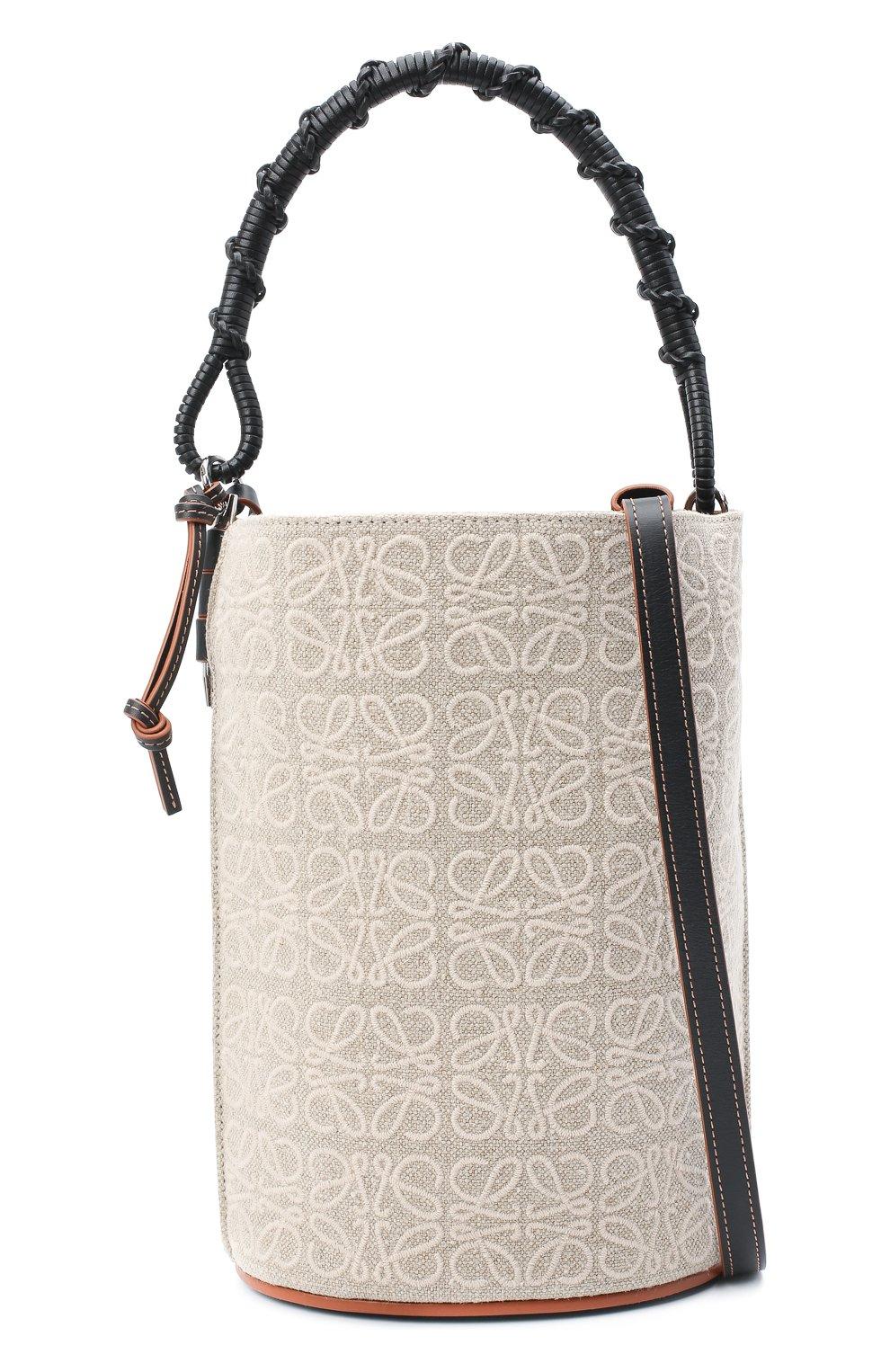 Женская сумка bucket LOEWE бежевого цвета, арт. A650Z85X11   Фото 6