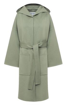 Женское шерстяное пальто LOEWE светло-зеленого цвета, арт. S359336XCH | Фото 1