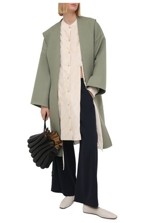 Женское шерстяное пальто LOEWE светло-зеленого цвета, арт. S359336XCH | Фото 2