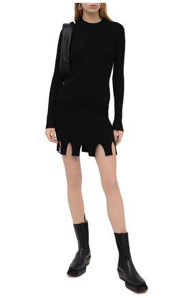 Женская юбка из вискозы BOTTEGA VENETA черного цвета, арт. 650918/V0GJ0 | Фото 2