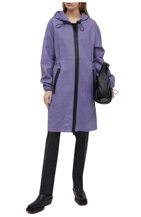 Женский кожаный плащ BOTTEGA VENETA сиреневого цвета, арт. 652805/V0IT0 | Фото 2