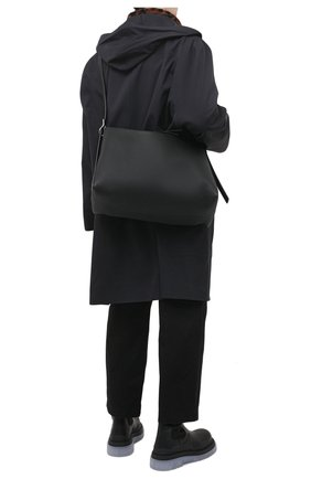 Мужская кожаная сумка berlingo LOEWE черного цвета, арт. B702A19X06   Фото 2